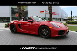 2016 Porsche Boxster 2dr Roadster GTS 2dr Roadster GTS Convertible Manual Gasoline 3.4L FLAT 6 Cyl Carmine Red