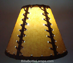 Rustic Double Laced Cabin Table Light LAMP SHADE Clip On Bulb Style 9quot; inch Cone $26.99