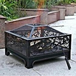 Square Steel Fire Pit 26
