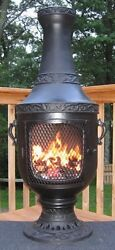 Venetian Cast Aluminum Chiminea (Charcoal)