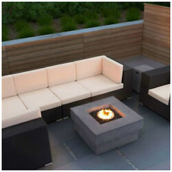 Large Fire pit Outdoor Fireplace Patio Backyard Heater Heavy Concrete look