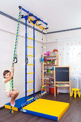 Kid's Home Gym Indoor Swedish wall Playground Set for Kids room - Carousel R55: