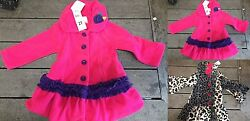 *NWT* Mack & Co. Girls REALLY CUTE! Fleece Coats Warmth without the weight!