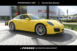 2017 Porsche 911 Carrera 4S Coupe Carrera 4S Coupe 2 dr Manual Gasoline 3.0L FLAT 6 Cyl Racing Yellow