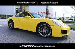 2017 Porsche 911 Carrera S Coupe Carrera S Coupe 2 dr Manual Gasoline 3.0L FLAT 6 Cyl Racing Yellow
