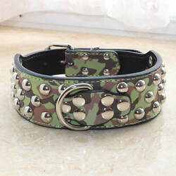 Gator Leather Spiked Studded Dog Collar for big dog Pitbull Terrier S M L XL GBP 11.99