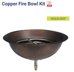 Decorative Portable Firepit: Copper  Fire Pit  Natural  or Propane