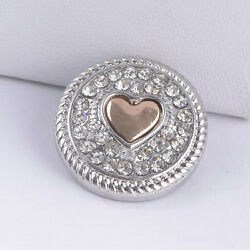 20pcs Heart snap buttons 18mm Ginger Snap Jewelry Interchangeable chunk charms