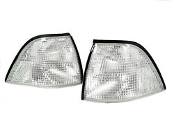 DEPO Euro M3 Clear Corner Signal Lights For 92-99 BMW E36 2D Coupe  Convertible