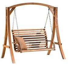 Wood Porch Swing Seat Deck Patio Chair Sofa Furniture Yard Couch Home Grill Pool