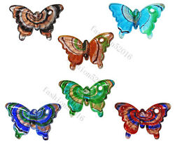 Wholesale Lots 6Pcs Animal Butterfly Handmade Glass Pendants Fit Necklace FREE $12.99