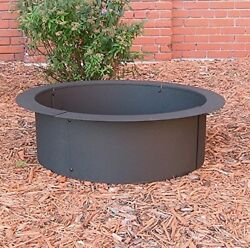 Fire Pit Rings DYI Build Your Own Wood Burning In Ground or Above Ground Steel