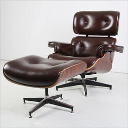 Hot Sale Eames Modern Style Leather Lounge Chair And Ottoman