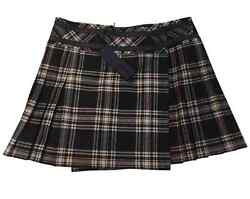 NWTKARL LAGERFELD TARTAN WOOL MINI SKIRTFREE GIFT wPurchase from MOORECOUTURE