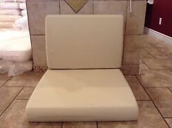 Frontgate TAN Lounge Outdoor Sofa Pool Patio Replacement Chair Cushion 25X28X5