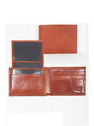 Scully Wallets Mens Cognac Italian Leather Removable ID Slim Billfold