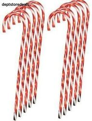 Lighted Candy Cane Pathway Markers 28