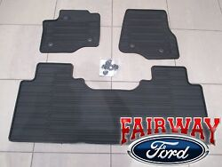 17 thru 21 Super Duty OEM Ford Rubber Mat Set 3 pc EXTENDED CREW for VINYL FLOOR $129.95