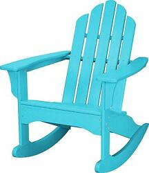 Hanover Outdoor HVLNR10AR All-Weather Adirondack Rocking Chair in Aruba