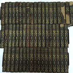 1892 COMPLETE 54 Vol. Decorative Set Walter Scott Limited Ed Illustrated Leather