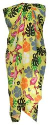 Sarong Women Flamingo Printed Beach Swimsuit Wrap Plus Size Pareo $13.14