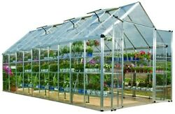 Palram 8' x 20' Snap and Grow Hobby Greenhouse - Silver NEW Garden Plants