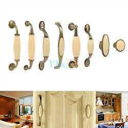 Vintage Door Handles Ceramic Kitchen Cabinet Cupboard Wardrobe Drawer Knobs Pull