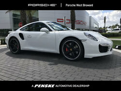 2016 Porsche 911 2dr Coupe Turbo 2dr Coupe Turbo Low Miles PDK Gasoline 3.8L FLAT 6 Cyl White