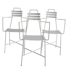 Mid-Century Modern Slatted Wrought Iron Patio or Dining Chair