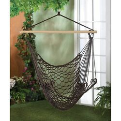 Espresso Hammock Chair Outdoor Living Garden and Patio Furniture For Porch Yard