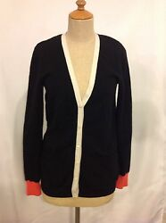 Equipment Femme 100% Cashmere Button Cardigan Sweater Black Extra Small XS $358