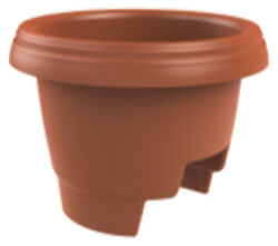 Bloem 477121-1001 Deck Rail Planter Clay 12-In.