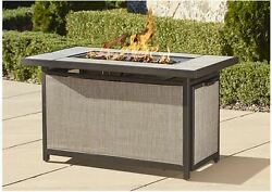 Patio Fire Pit Table Outdoor Rectangular 45