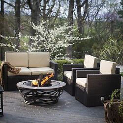 Palm Harbor Tile Fire Pit Furniture Patio Luxury Outdoor Stunning Sale New Sofa