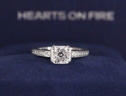 $11500 Hearts On Fire 18K White Gold Dream Cut Diamond Engagement Ring Band 5.5