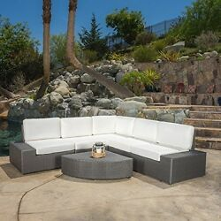 Reddington Grarden Open air 6pc Couch Sectional Set Outside Porch Seat Furniture