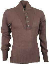 USED Military Knitted Sweater 100% Wool Pullover Brown Mens Size MEDIUM  USGI