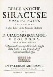 IMPORTANT WORK ON THE ANCIENT CITY OF SYRACUSE - SICILY - GREEK COLONY - 1717