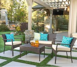 Outdoor 4 Piece Wicker Patio Furniture Sets Clearance Sale Sears Target Cheap