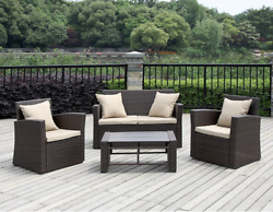 Outdoor 4 Piece Wicker Patio Furniture Sets Clearance Sale From Sears Target