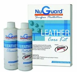NuGuard Leather Care Furniture Protection kit featuring Scotchgard