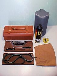 Ferrari 355 Tool Kit_Leather Case_Wrenches_Screwdrivers_Tire Inflator_Pliers OE
