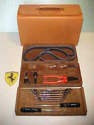 Ferrari 355 Tool Kit_Schedoni Leather Case_Wrenches_Screwdrivers_Pliers_Bulbs OE