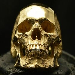 Into The Fire Jewelry - Skull Ring 18kt rose or yellow gold skull 50 grams