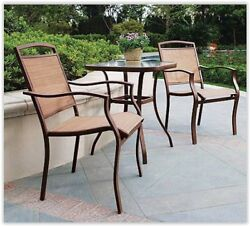 Outdoor Patio Chairs 2 Furniture 3 Folding Piece Garden Table Chair Sling Wicker