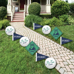 Golf Lawn Decor - Outdoor Birthday or Retirement Party Yard Decorations - 10 Pcs