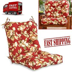Replacement Patio Cushions Floral Seat Back Garden Outdoor Chair Pillow Pad