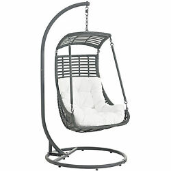 Outdoor Furniture Jungle Outdoor Patio Swing Chair - White