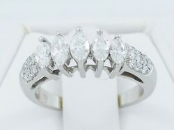 14K White Gold 1.25TCW Diamond Women's Engagemenet Ring