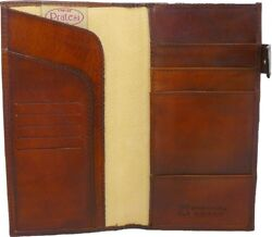 Pratesi Mens Italian Leather Bruce Range Fiorino d'oro Breast Wallet